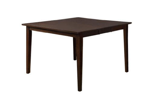 Furniture of America Denver Square Extending Dining Table, Counter Height, Walnut - Square Extending Table