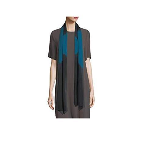 Eileen Fisher Nile Silk Shibori Symmetry Scarf 70'' X 14''