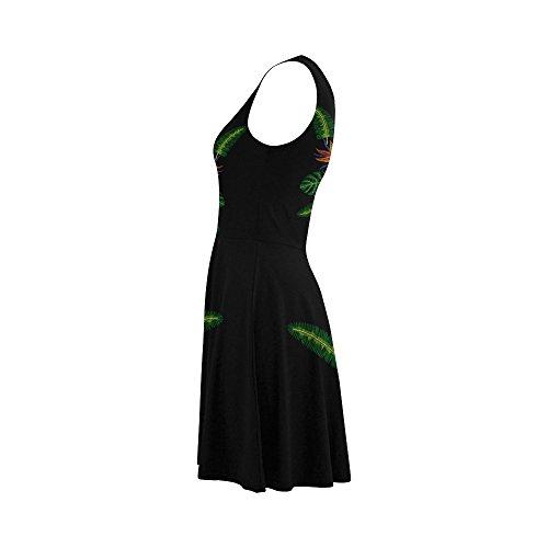 Women Women Dress Summer Story Sleeveless Sundress Flamingo Dress D XPwzqx