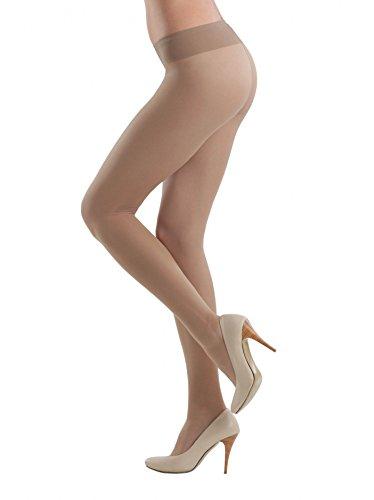 Conte elegant Women's Soft Top Low Waist Pantyhose Tights Top Soft 20 - Tan (Bronz), Medium