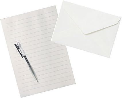 Muji carta Set (papel de algodón papelería a 5 (210 × 148 mm) 20 hojas +