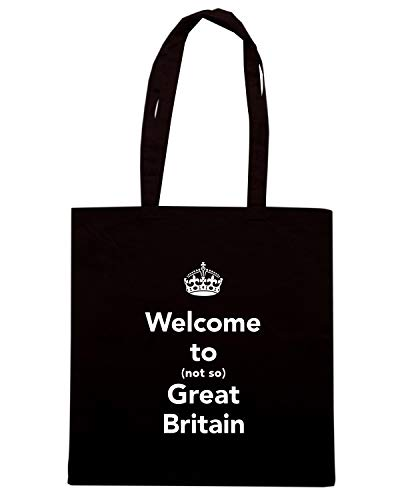 WELCOME TO TKC4176 Shopper Nera NOT BRITAIN Borsa GREAT CALM KEEP SO AND RFYxUcY0wq