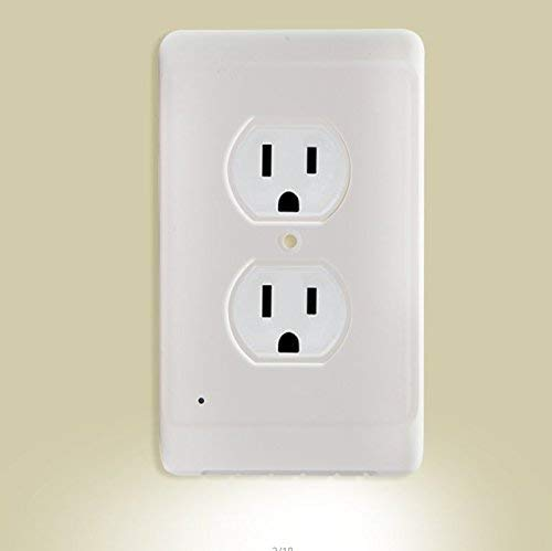Aodigesa Outlet Wall Plate with LED Night Lights, Auto senso