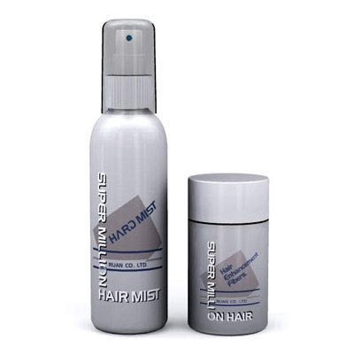 Super Million Hair Enhancement Travel Set - 10g Hair Building Fibres + 60ml Mist (Light Brown)