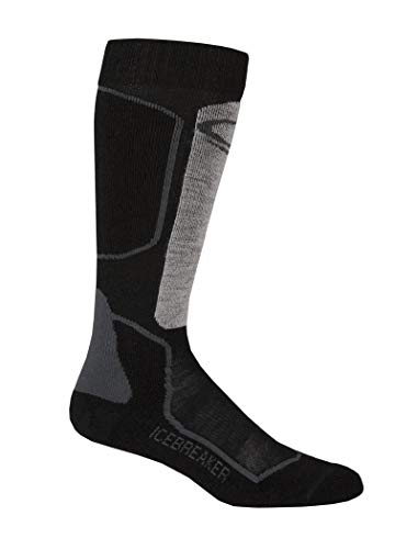 Icebreaker Merino Men's Skier + Lite Alpine Sock (Oil/Black/Silver, Medium)
