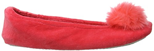 Pom Coral Rose Ballet Cor Pom Isotoner Slippers Bas Femme Chaussons F18Wx50