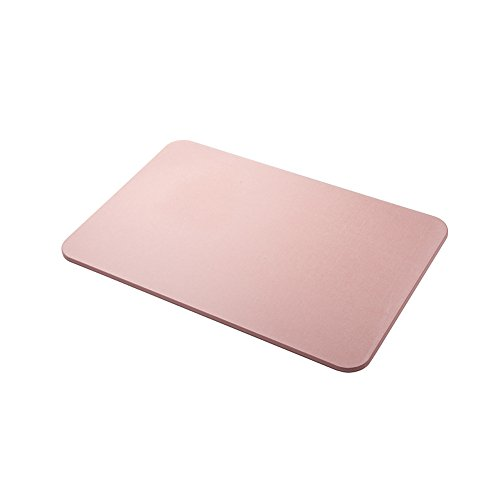 Yunhigh Diatomite Stone Bath and Shower Mat Large Water Absorbent Diatomaceous Foot Pad Non Slip Fast Drying Antimicrobialfor Bathroom Floor - Pink