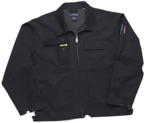 Style Ike Jacket - SPORTSMASTER 430 IKE Style Uniform Work Jacket (2XL, Navy)