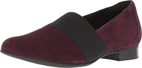 (CLARKS Un Blush Lo Womens Loafers Aubergine Suede)