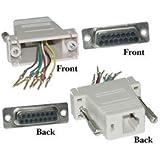 Dealsjungle Modular Adapter, Gray, DB15 Female to RJ45 Female
