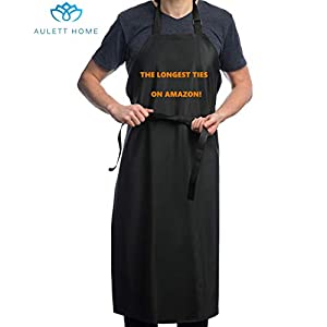Projects Lab Work Dog Grooming Cleaning Fish Industrial Chemical Resistant Plastic Butcher Upgraded Heavy Duty Model Waterproof Rubber Vinyl Apron Best for Staying Dry When Dishwashing