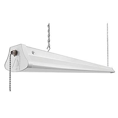 Lithonia Lighting 1290L NST LED Chain-Mount Shop Light, 4000K, 28 Watts, 3,100 Lumens, 48-Inch, White