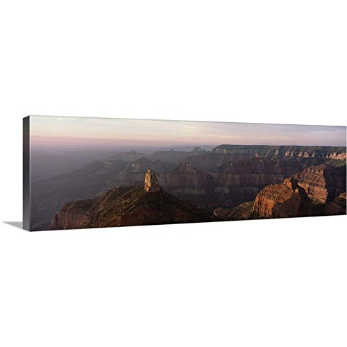 GREATBIGCANVAS Gallery-Wrapped Canvas Entitled Morning Light on The Grand Canyon on The North Rim, Mt. Hayden, Arizona by 60