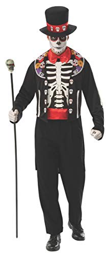 Sugar Skull Halloween Costume Male (Rubie's Men's Opus Collection Day of The Dead Adult Man Costume, As Shown,)