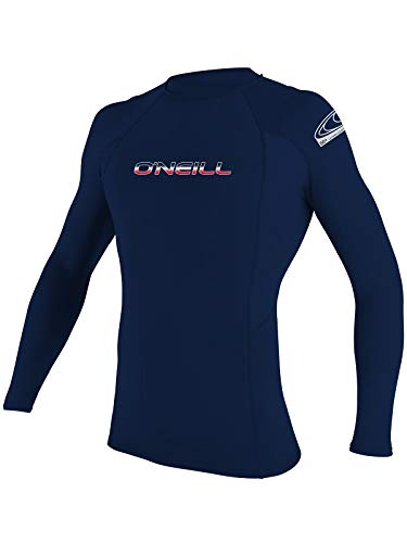 O'Neill Men's Basic Skins Long Sleeve Rashguard 3XL Navy (3342IB)