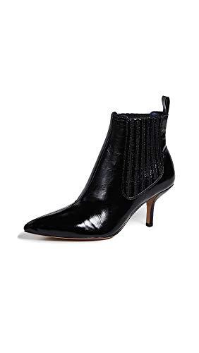 Diane von Furstenberg Women's Mollo Booties, Black, 8 M US -
