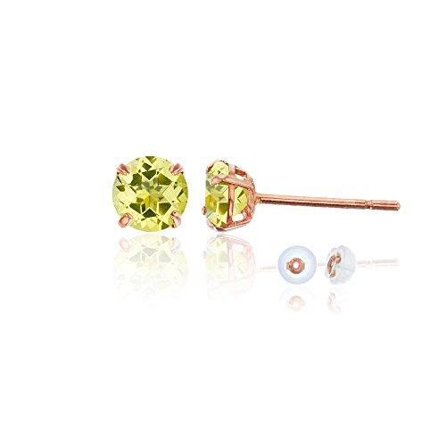 und Citrine Stud Earring ()