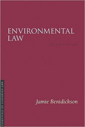 Environmental Law Essentials Of Canadian Law Benidickson Jamie 9781552211311 Amazon Com Books