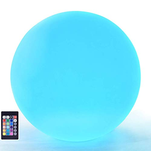 LOFTEK LED RGB Glow Ball: 6-inch Cordless Home Decor Night Lights with Remote Control, Rechargeable Color Changing Orb, for Halloween or Christmas