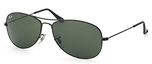 Ray Ban RB3362 Cockpit Sunglasses-002 Black (G-15XLT - Cockpit Ban Black Ray