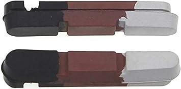 P4B Plaquettes de Frein universelles Road 4020i pour Patins de Frein Noir//Marron//Gris