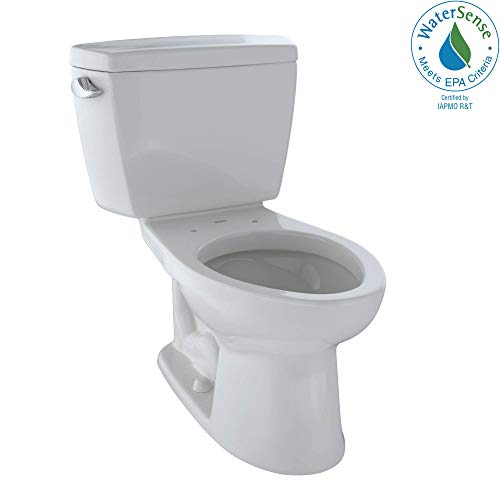 TOTO CST744E#12 Eco Drake Two-Piece Elongated 1.28 GPF Toilet, Sedona - Sedona Toilet Beige Elongated Seat