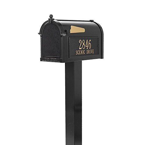 (Whitehall Premium Capitol Mailbox Package with Custom Plaques and Post)