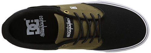 DC - Herren Mikey Taylor Vulc TX Lowtop Sportschuh, EUR: 38, Olive/Black