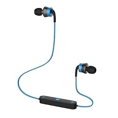 Trendwoo Runner X9 – Audífono Auriculares Inalámbricos Estéreo Bluetooth 4.0 con cabeza magnética Deportivo (azul