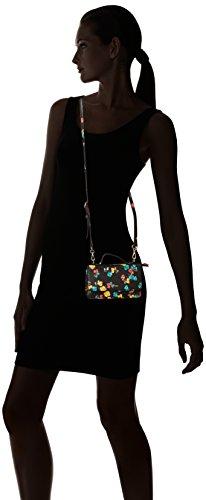 Nine West- - Sac à bandoulière portefeuille avec poignée supérieure Femme Noir / multi