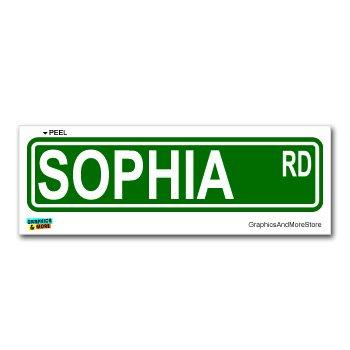 Sophia Street Road Sign - 8.25