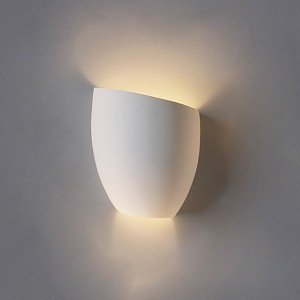 8 Inch Asymmetrical Tumbler Ceramic Bowl Wall Sconce-Indoor ...
