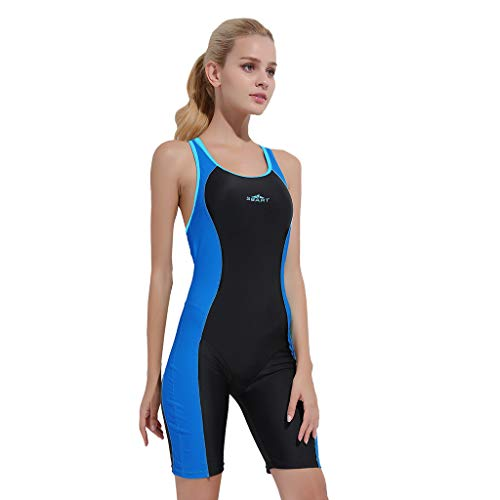 Xturfuo Surfing Suit Women Short Sleeve One Piece Swimwear Sun Protection Wetsuit Diving, Surfing, Snorkeling, Scuba Diving ()