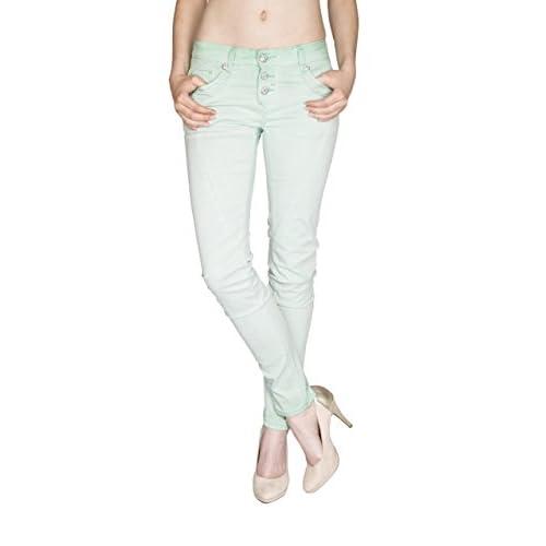 off Mujer Para Ajustada Básico 85 Vaqueros Jeans Blue Monkey Z618FF