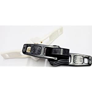 ZipperStop Wholesale Authorized Distributor YKK® Sliders Bimini Top #10 White Marine Double Pull ~ YKK Sliders 100% Plastic (2 Sliders/pack)