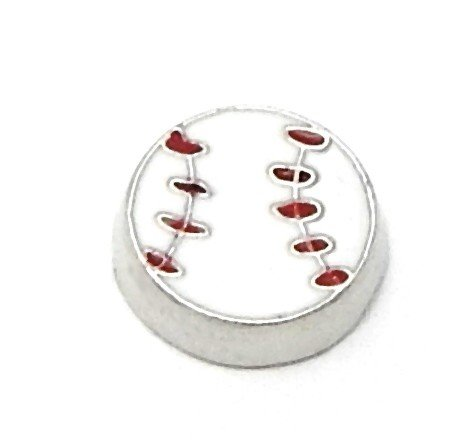 Cherityne Baseball Floating Charm for Locket Pendants