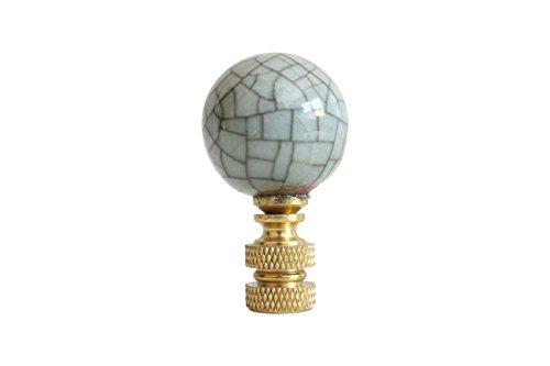 Porcelain Ball Finial - Celadon Crackle Porcelain Ball Lamp Finial