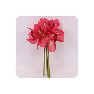 6 Heads Short Shoot Table Decoration Flower DIY Wedding Bride Hand Flowers Home Decor Artificial Orchid,Rose