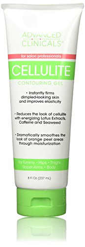 Body Gel Sculpting (Advanced Clinicals 8oz Cellulite Gel for Tummy, Hips, Arms, Thighs Body. Best Cellulite Gel & Slimming Cream with Seaweed Extract. 8oz)