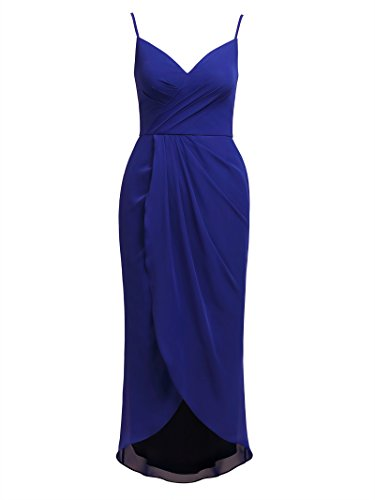Women's Dress Sapphire Lo Party Bridesmaid Spaghetti Dresses Hi Evening Chiffon Alicepub dIvqZwgSw