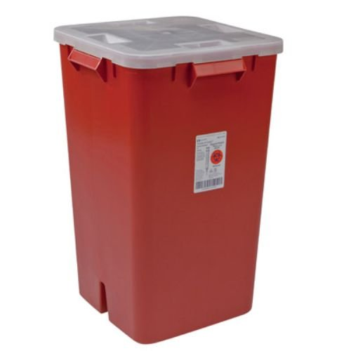Covidien 31378089 Sharps-A-Gator Sharps Container, 19 gal Capacity, Red (Pack of 5) by COVIDIEN