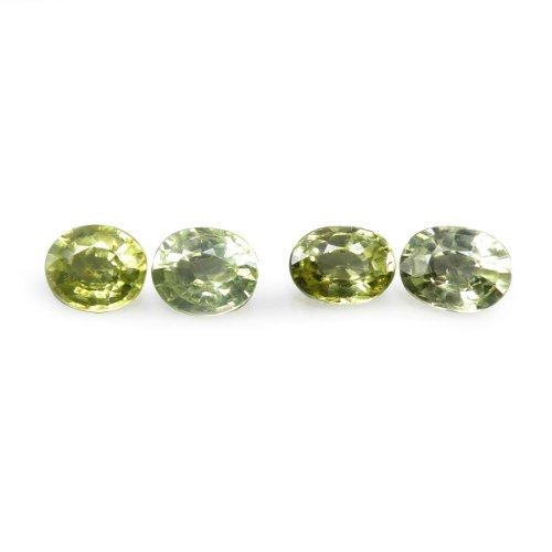 1.95 Ct. / 4 Pcs. Natural Oval Yellow Chrysoberyl Loose Gemstone