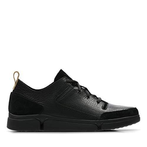 Combi Leather black Basses Lace Sneakers Homme Triverve Clarks Noir q0wOv8