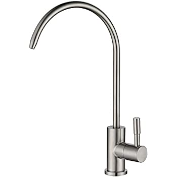 Havin Stainless Steel,Lead Free,1 Hole Deck Mounted, Non-air Gap Reverse Osmosis Faucet,Drinking Water Faucet,Beverage Faucet,1/4&3/8 inch tubing (Style A)