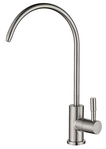 (Havin Stainless Steel,Lead Free,1 Hole Deck Mounted, Non-air Gap Reverse Osmosis Faucet,Drinking Water Faucet,Beverage Faucet,1/4&3/8 inch tubing (Style)