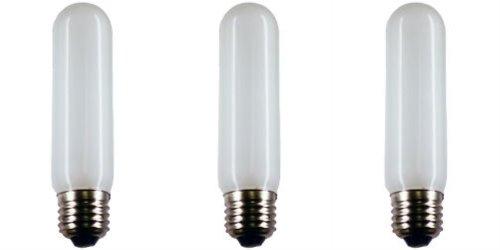 Eiko #40T10F130V (Frosted) Bulbs, 130 V, 40 W, E26 Base, T-10 shape (3-pack) (Incandescent Light Bulb 130v Eiko)