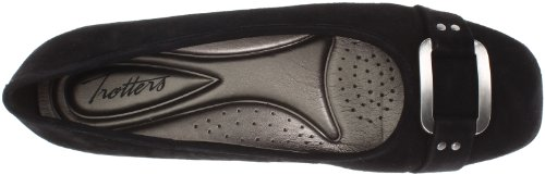 Trotters Womens Sizzle Signature Ballet Flat Black Suede XaPiy6Edn
