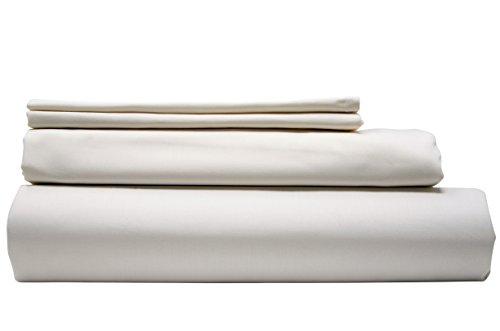 Modern Zinc Sheet Set - Innovative Antibacterial Zinc Infused Bedding - Luxuriously Soft 400 Thread Count Cotton (California King/White) by Modern Zinc