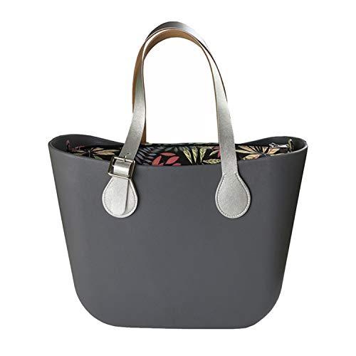 Deep Tamaño Mujer Obag Goma Grey De Eva Silicona Clásico O Bag Bolso Style Waterproof Body Laughingcv Del 6ZxXqz