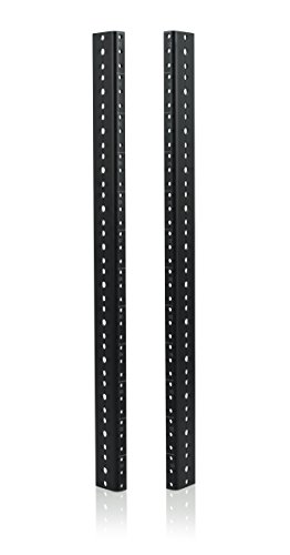 Gator Rackworks Heavy Duty Steel Rack Rail Set; 12U Rack Size (GRW-RACKRAIL-12U) by Gator